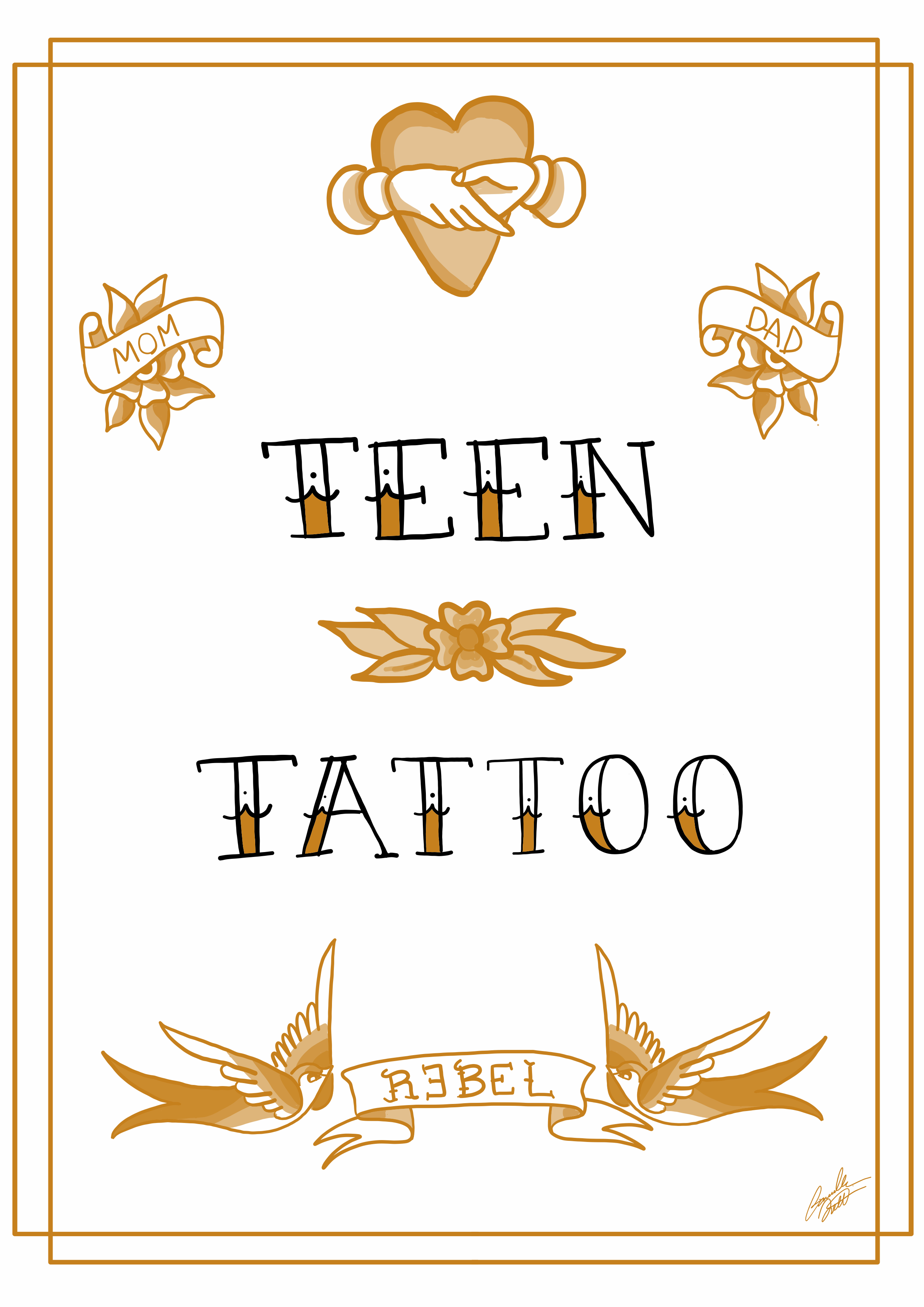 teen agers tatuaggi